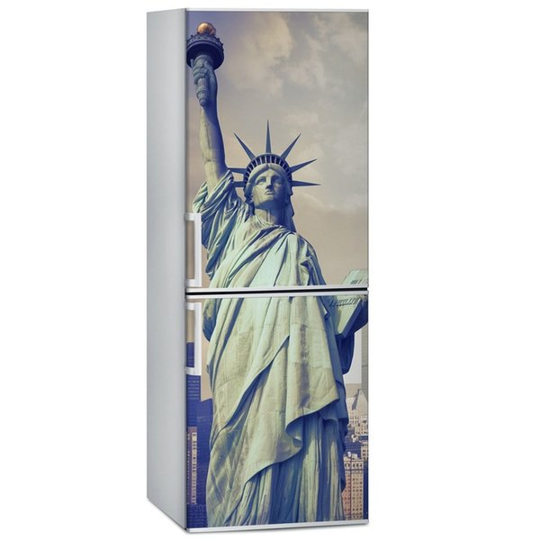 Fridge Wrap /Dishwasher Sticker/Statue of Liberty/Removable Self Adhesive Vinyl /Peel and Stick Decal Wallpaper
