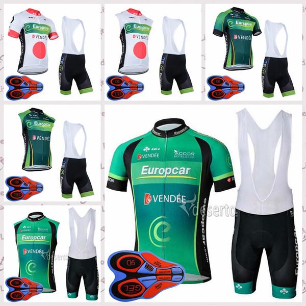 EUROPCRA команда Велоспорт с короткими рукавами / без рукавов жилет шорты из джерси нагрудники комплект Лето на открытом воздухе мужской велосипед дышащая одежда Q82101