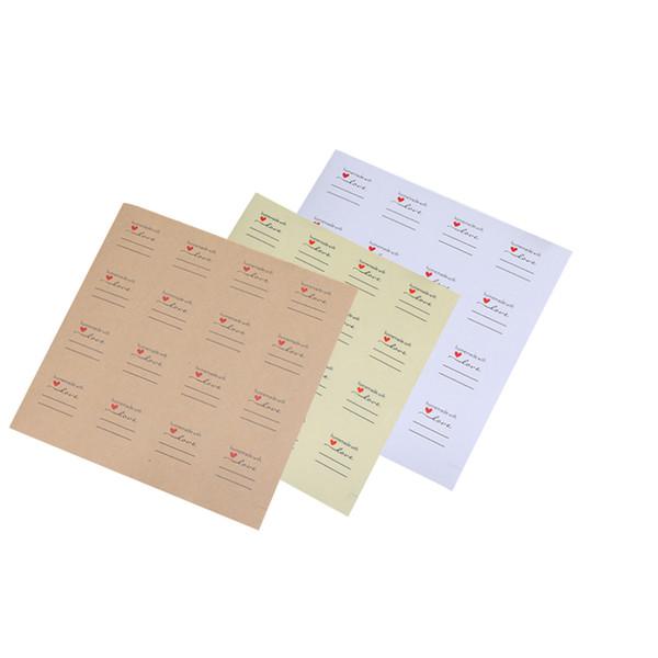 800pcs/lot Homemade with Love Sticker Round DIY Kraft paper white transparent Sticker DIY For Gift Cake Baking Sealing Sticker