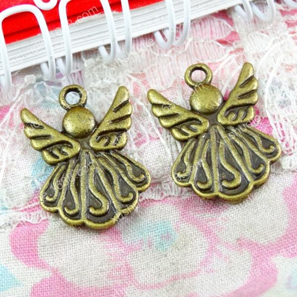 50pcs 21*15MM antique bronze tibetan fashion angel fairy charms for bracelet vintage metal pendants earring handmade DIY jewelry making