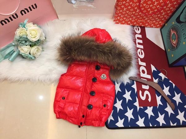 sky_baby brand Kids Winter Warm Thicken Vests Baby Duck Down Jacket Waistcoat Coat For Children 0818