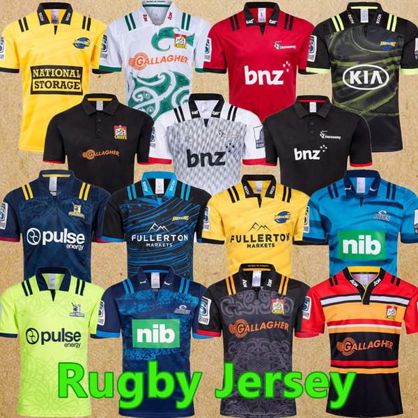 New Jersey 2019 2020 Chiefs Super Rugby Nouvelle-Zélande super adultes Chiefs Blues Hurricanes Croisés Highlanders 2019 Maillots de Rugby chemises