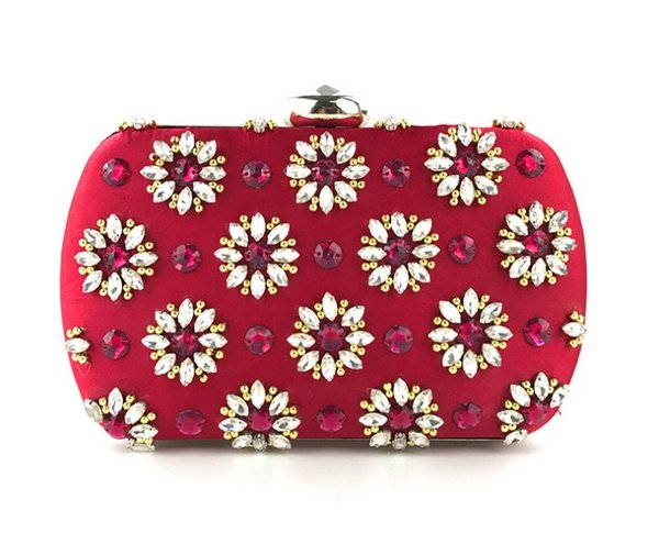 Dinner bag beaded embroidered fashion skewed beaded handbag Women Wedding Party Bag Purse Case Box Clutch Handbag Bridal Wallet