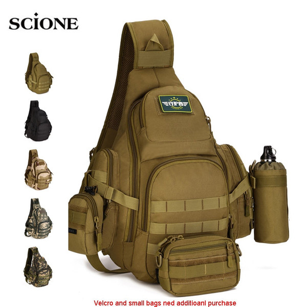 Molle Militar Sling Bags Mochilas de camping Molle Bolsa de viaje Cinturón Shouder Assault Deportes al aire libre Nylon Ordenador XA575WA # 108979