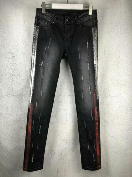 2019 Wholesale Hot New Men Jeans Designer Men Personalized Popular Holes Jeans Motorcycle Jeans Denim Pants Trousers