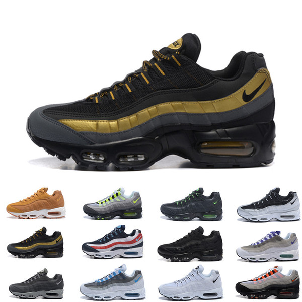 2019 Ultra Unisex 95 Shoe OG 20th Anniversary Men Running Shoes Sports 95s Black Grey Mens Trainers Tennis Designer Sneakers Size 7-12 T003