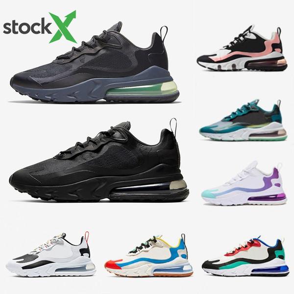 Großhandel Nike Air Max 270 Shoes 2019 Billig Regency Lila Männer Frauen Laufschuhe Triple Schwarz Weiß Tiger Olive Training Outdoor Sports Herren