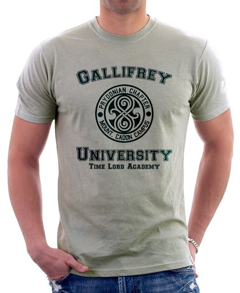Gallifrey University Time Lord Academia Viaje Funny Parody zinc camiseta 9828