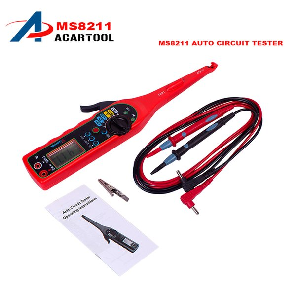 MS8211 Power Elec Multi-function Auto Circuit Tester Multimeter Lamp Car Repair Automotive Electrical Multimeter Diagnostic Tool