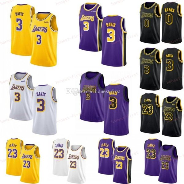 half off 315f9 d280c 2019 NCAA College LeBron 23 James Jerseys Los Men Angeles Anthony 3 Davis  Laker Kobe 24 8 Bryant Yellow Purple White Black Basketball Stitched From  ...