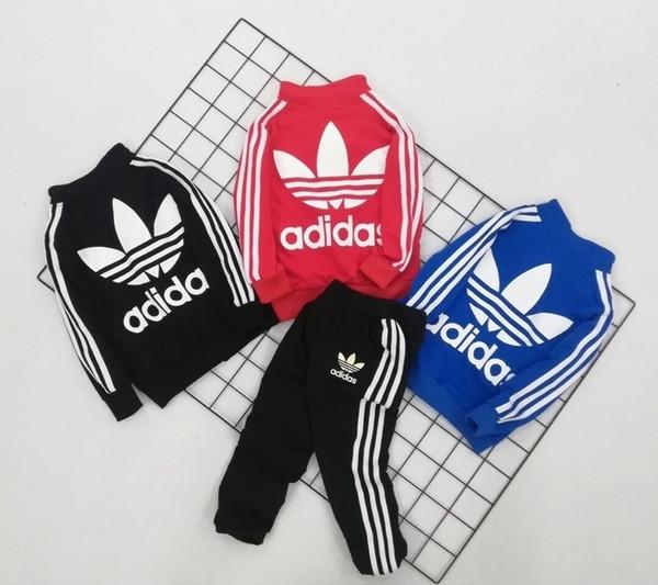 Zweiteilige Outfits Neue Muster In Will Kind Frühling Männlich Mädchen Farbe Mode Druck Anzug Koreanische Kinder Kleidung Set 0818