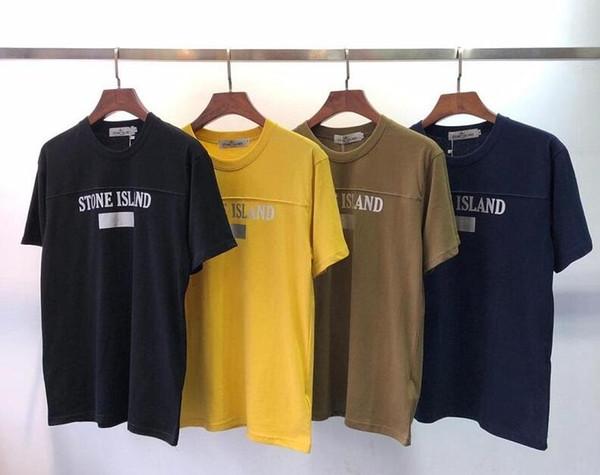2019 Yaz Tasarımcı T Shirt Erkek Tees Marka T Gömlek Marka Mektubu Desen Erkek Giyim Kısa Kollu Tişört Casual Kadın T-shirt