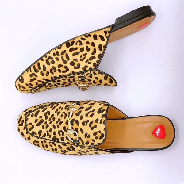 Большой размер! Высокое качество европейской моды ленивый Баотоу воловья металлическая пряжка плоский полуприцеп мода повседневная обувь