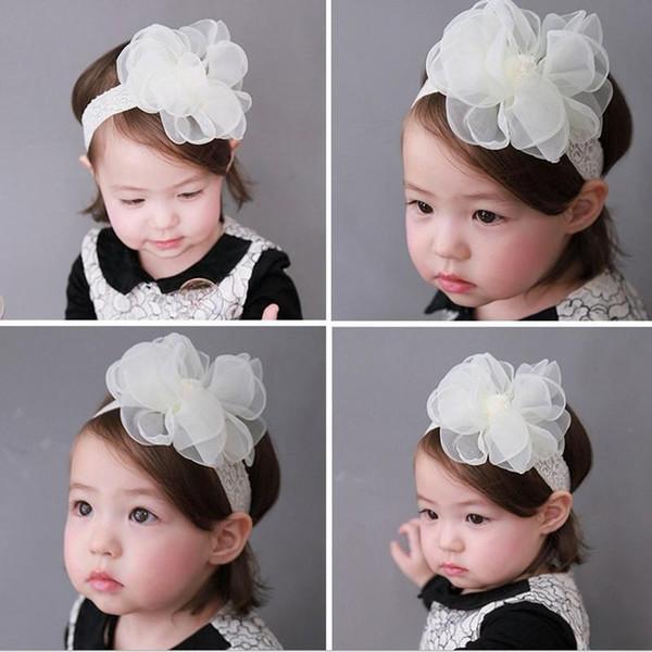 Baby Mesh Yarn Lace Flower Headband Head-wear Fashion Girl Party Birthday Dress