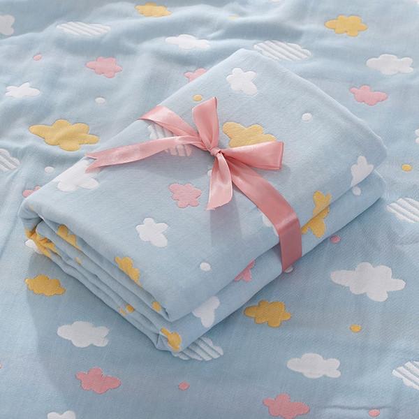 cloud blue square towel-110x110