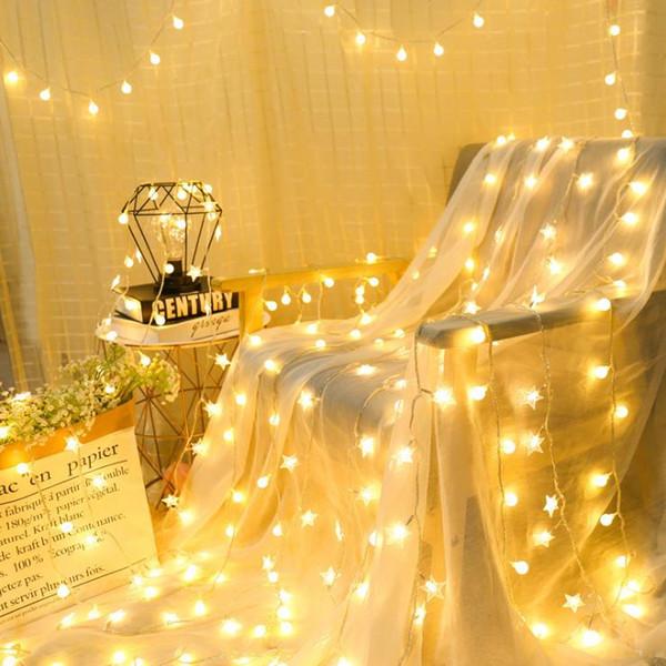 plástico LED luzes pequenas luzes piscando luzes estrela sala de Natal decoração do partido restaurante de layout dormitório ins colorido co quente www xxx