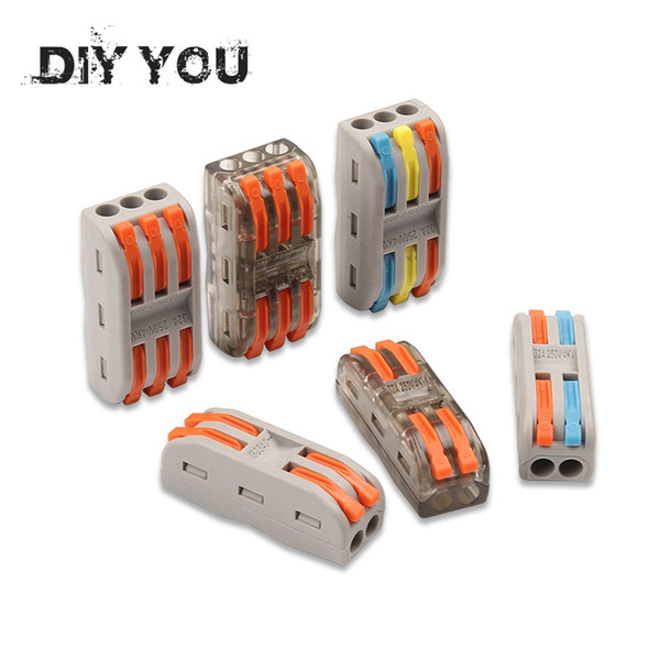 top popular ights & Lighting 10-100PCS Wire Connectors PCT-222 Terminal Block Conductor SPL-2 3 Push-In Mini Terminal Block Cable Splitter Led Light ... 2021