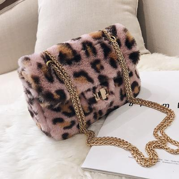 NUEVOS Bolsos Mujeres Estampado de leopardo Famosa Marca de Velour Cadena Flap Bolsos de Hombro Mujer Messenger Bag Girls Crossbody Bag Sac A Main