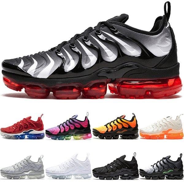 TN PLUS Mens Women Running Shoes BE TRUE Yellow Triple Black White Hyper Blue Volt Men Designer Trainers Sport Sneaker Free Shipping Sale