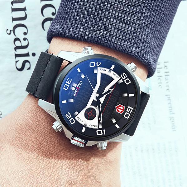 KADEMAN Marca Hombres Reloj Deportivo LED Pantalla Dual 30 M Relojes Casual Masculinos Impermeables Relojes Relogios Masculino