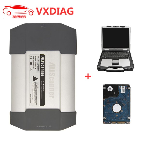 VXDIAG VCX PLUS Diagnostic Tool for Porsche Tester II V18.1 and JLR V149 VXDIAG VCX-PLUS with 4GB CF30 Laptop with HDD