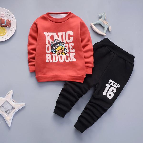 Buena calidad para niños conjuntos de ropa primavera otoño 2 unids algodón  jersey trajes trajes deportivos causales niño niños de dibujos animados  marca ... e5e7709725e0a