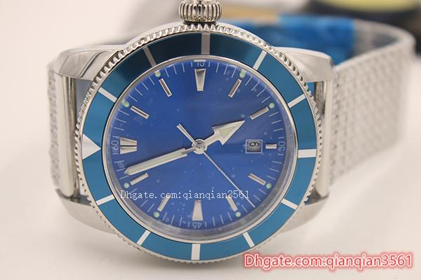 Hot sale Christmas gift Automatic Skeleton Silver Belt stainless steel Blue dial mens Watchesdesigner watches