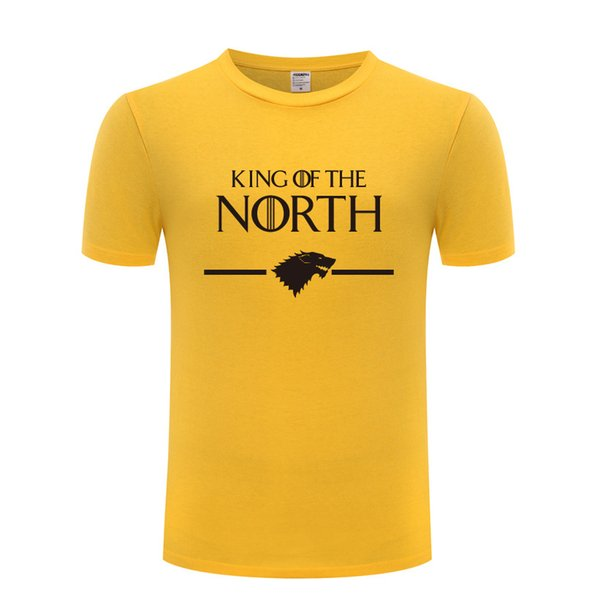 Game of Thrones King of The North Stark Men T Shirt Fans T Shirts Men Cotton Short Sleeve Man Tshirt Streetwear Tee Shirt Homme