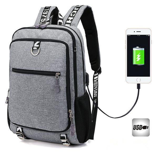 2019 Business Notebook Backpack Large Capcity Usb Charge Men Escolar Mochila College Quality Laptop Bag Teenage School Backpacks