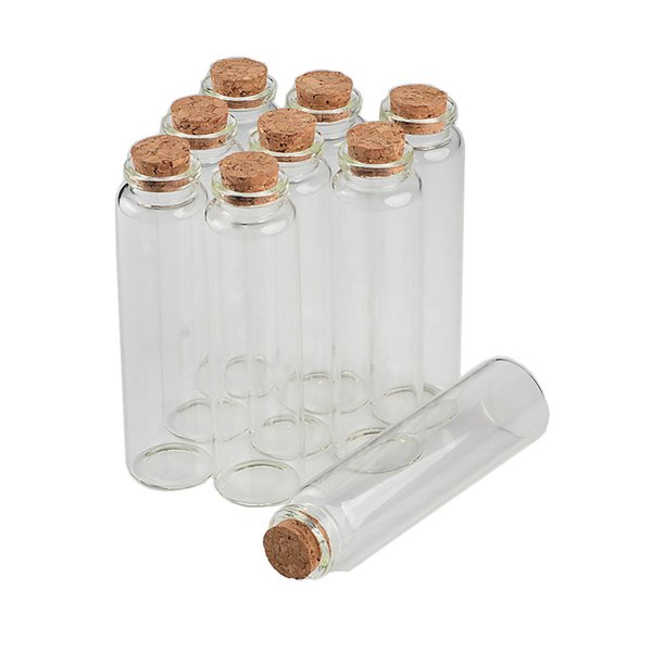 30*110*17mm 55ml Transparency Glass Bottles With Cork 25pcs For Wedding Holiday Decoration Christmas Gifts