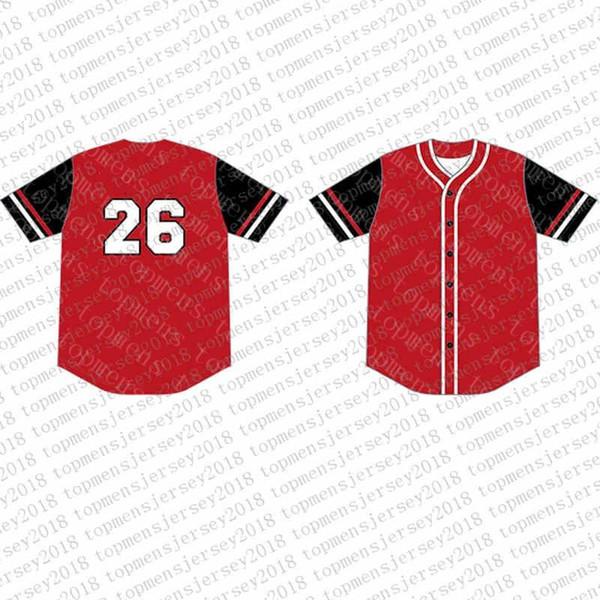 Top del camisetas de béisbol para hombre bordado Logos Jersey envío libre al por mayor barato Cualquier nombre de cualquier número tamaño M-XXL 40