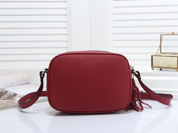 Nueva borla de las mujeres solo hombro bolso dama de la moda noche popular bolso negro / rojo / blanco / azul / rosa / marrón / caqui colores no135