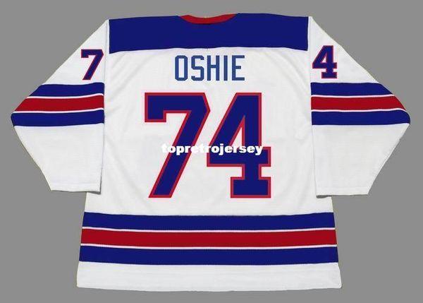 Toptan Erkek TJ OSHIE 2014 ABD Ucuz Olimpiyat Retro Hokey Forması