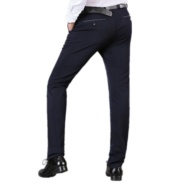 Business Formal Pants For Men Office Trousers  Male Casual Straight Perfume Masculino Mens Wedding Solid Dress Suit Pants