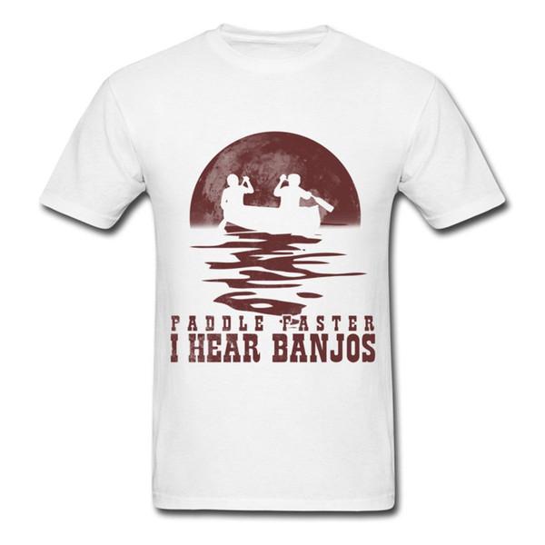 Paddle Faster I Hear Banjos T-Shirt da uomo T-shirt moda Stile manica corta Stampa girocollo Man New Metal manica corta