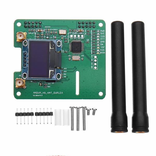 Freeshipping MMDVM DUPLEKS RX TX UHF VHF Hotspot Desteği P25 Ahududu Pi Için P25 DMR YSF NXDN DMR + OLED