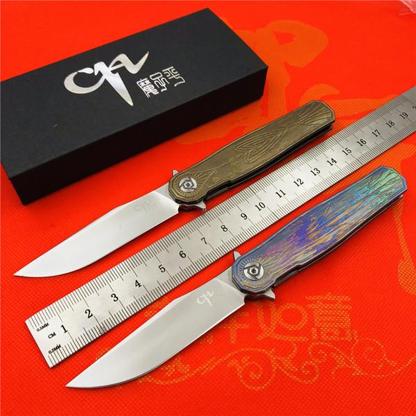 CH 3505 folding knife ceramic bearings s35vn steel TC4 titanium handle outdoor camping hunting pocket fruit knife EDC tools