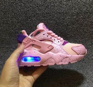 55 Flash Light Air Huarache Kids 2018 New Running Shoes Infant Run Children sports shoe outdoor luxry Tennis huaraches Trainers Kid Sneakers