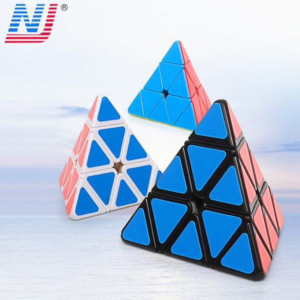 Diansheng Pyramid Magic Mini Magnetic Cubes 3*3*3 Professional PVC sticker Rubic Magic Cube Puzzle Neo Cubo Magico Kids Toys