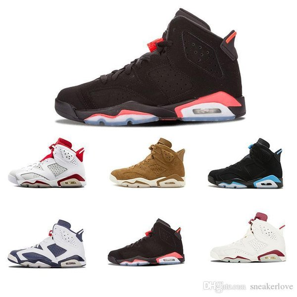 Best seller lfssba 6 Fade away Men Basketball Shoes 7s History of Flight white red high quality jump man fashion style sport sneakers
