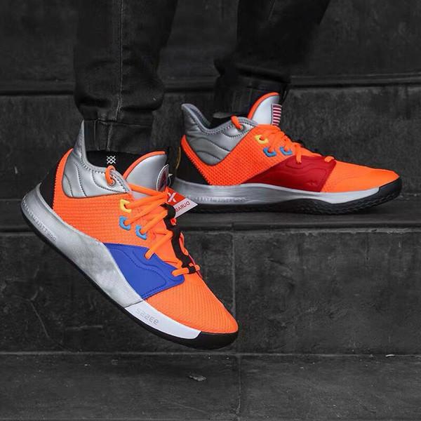2019 Yeni Paul George PG 3 NASA Basketbol Ayakkabıları Ucuz PG3 BHM Spor Ayakkabı All-Star Erkekler eğitim Sneakers Boyutu 40-46
