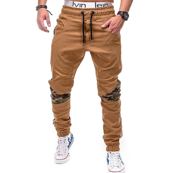 Men's Casual Fitness Cargo Pants Solid Black Khaki Cargo Pants Men Long Breathable Baggy Pants Trousers Men Casual Sweatpants