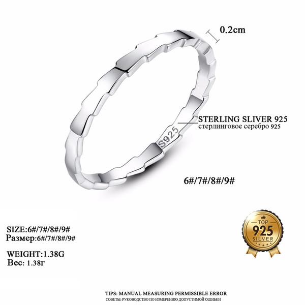 d5eb5b5a189e DR Marcas Genuino Simple 100% 925 Plata de ley Melodía de Sierra Blanca  Anillos de Dedo para Las Mujeres Joyería de Plata de ley Regalo