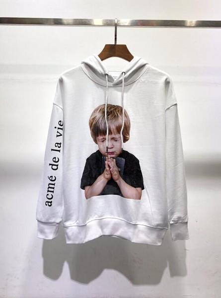 19SS Korea ADLV Marke Sweatshirt Mensentwerfer Baumwolle Druck Hoodie klassisch schwarz weiß paar Männer Luxus Pullover Frauen Straße verkaufen