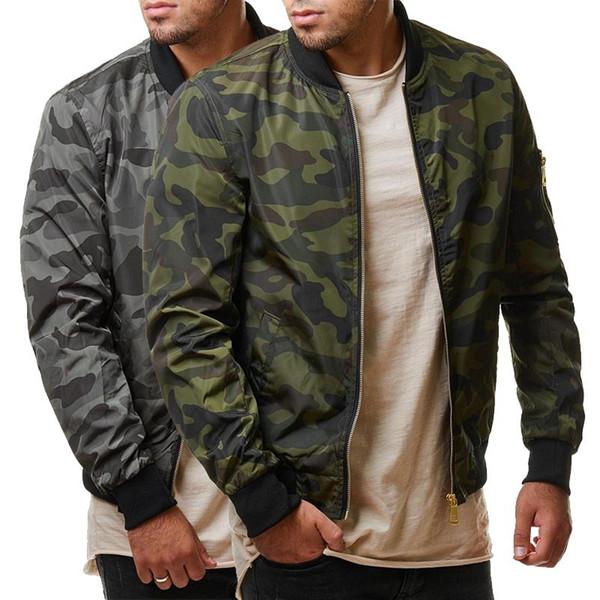 7XL Ceketler Erkekler 2019 Kamuflaj Ceket Erkek Mont Camo Bombacı Erkek Ceket Marka Bez Dış Giyim Beyzbol Yaka Artı Boyutu 5XL 6XL