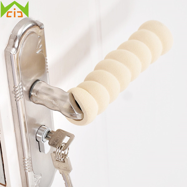 2Pcs Foam Rubber Spiral Door Doorknob Protective Sleeve Cover Kids Safety