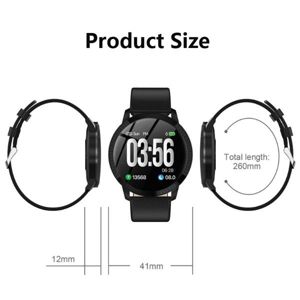 CF18 Smart Watch OLED Schermo a colori Smartwatch Fashion Fitness Tracker Monitor per la misurazione della pressione arteriosa per uomini donne