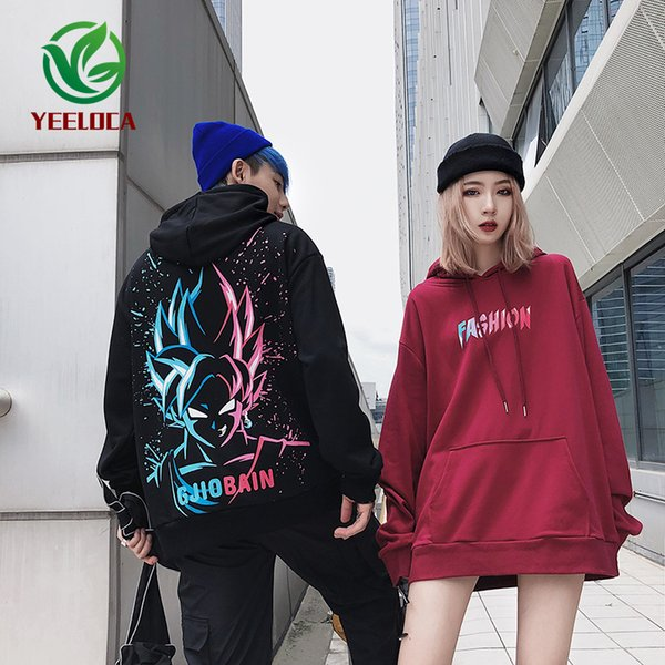 2019 2019 New Cartoon Anime Couple Hooded Sweatshirt Men And Women