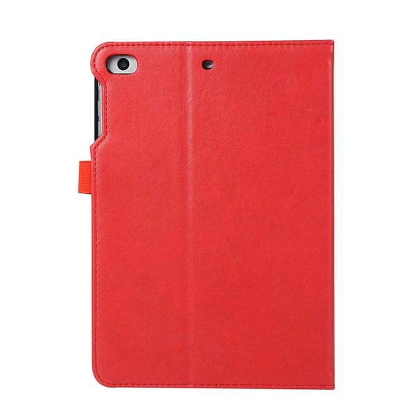 Business Imitation Leather ipad Case For ipad mini 3 4 With Dormancy PU Leather Folding Stand Cover Case