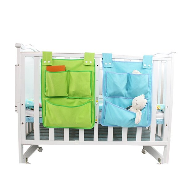 Useful Crib Baby Children's Bed Hanging Bag Portable Waterproof Diapers Bedside Organizer Bumper Cradle bag Bedding Accessories